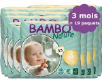 BAMBO NATURE Pack 3 mois de Couches Jetables Eco