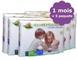 BIOBABBY Pack 1 mois de Couches Jetables Eco