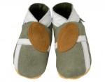 DAISY ROOTS Chaussons en Cuir Souple B�b� - Rugby - Fait Main en Angleterre