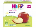 HIPP 100% Fruits - 4 x 100 g Pommes - 4M