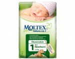 MOLTEX Couches jetables Nature 1 (T1 2 - 4 kg - 28 couches)
