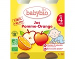 BABYBIO Jus 100% Fruits - 2 x 20cl - D�s 4 mois (Pomme - Orange)