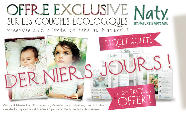 NATY Offre exclusive 1 paquet OFFERT
