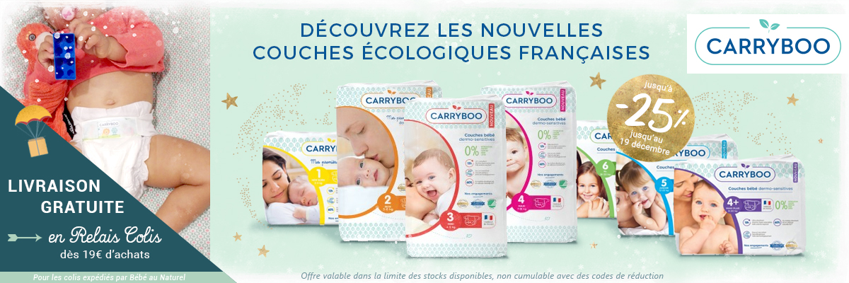 CARRYBOO Couches jetables dermo-sensitives jusqu'à -25%